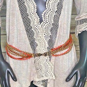 Vintage Boho Beaded Belt - Hip Belt